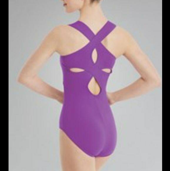 Balera Leotard Purple Lined Adult M